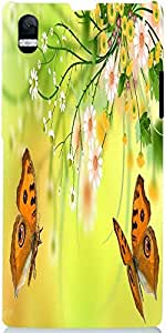 Snoogg Butterfly Around The Summer 2601 Case Cover For Sony Xperia Z1 L39H