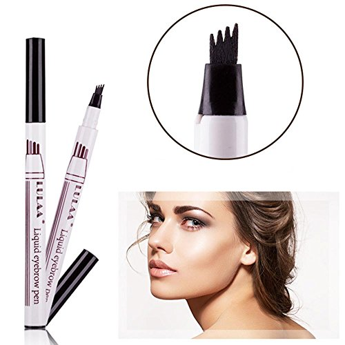 Aolvo sopracciglio Tattoopen, fine sketch Brow tint Pen con quattro punte Liquid Eyebrow Pencil waterproof Brow gel per occhi trucco