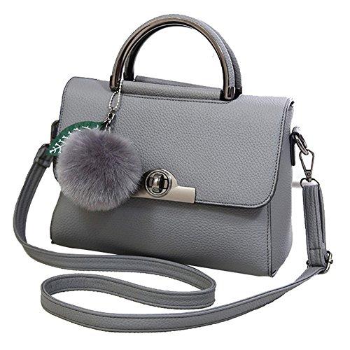 SHUhua - Borsa a tracolla donna grey