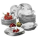 VEWEET Tafelservice 'Zoey' aus Porzellan 36 teilig | Tellerset für 12 Personen | Mit je 12 Dessertteller, Tiefteller und Flachteller