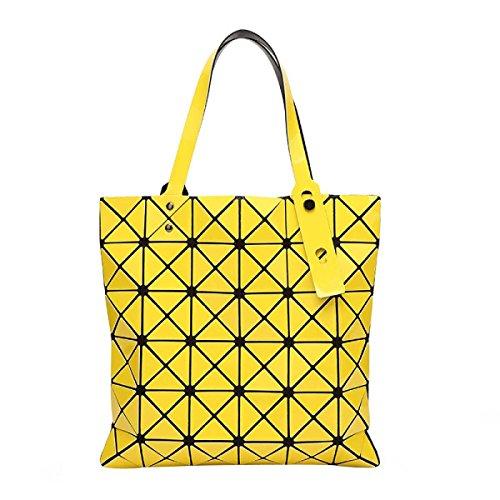 Frauen Falten Geometrische Umhängetasche Mode Persönlichkeit Lässig Tasche Yellow