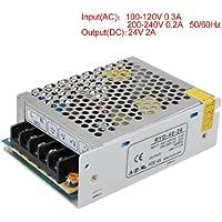 SODIAL(R) AC 110V 220V a DC 24V 2A 48W voltaggio