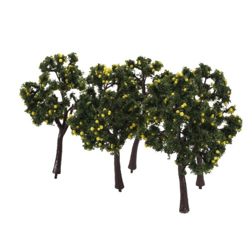 scenario-10pcs-modello-paesaggio-decorazione-alberi-da-frutta-gialla-12-centimetri