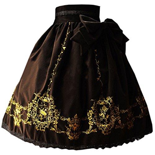 ische Stickerei Lolita Kleid Suesse Herbst Bowknotrock, Chinese S, Kaffee (Cosplay Kostüme Zum Verkauf Frauen)