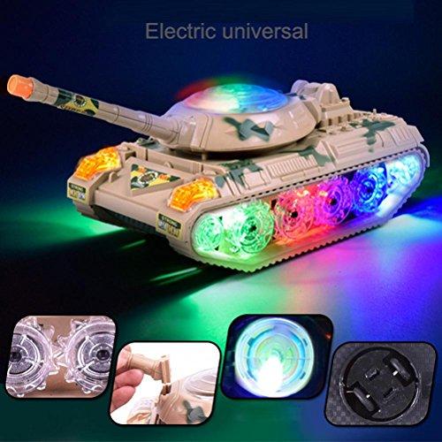3D Musik Beleuchtung Tank, mamum Automatische Lenkung Flashing Wheel Sound Racing Spielzeug Geschenke