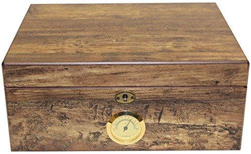 Humidor für 50 Zigarren Antik - INKLUSIVE ELEKTRONISCHEN PRÄZISIONS BEFEUCHTER HYDROCASE MADE IN GERMANY