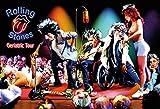 Rolling Stones Geriatric Tour lustiges karikatur bild schild aus blech, metal sign, tin