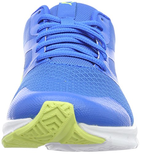 Puma Flexracer, Baskets Basses Mixte Enfant Bleu - Blau (Electric Blue lemonade-safety Yellow 04)
