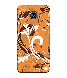 PrintVisa Designer Back Case Cover for Samsung Galaxy A5 (6) 2016 :: Samsung Galaxy A5 2016 Duos :: Samsung Galaxy A5 2016 A510F A510M A510Fd A5100 A510Y :: Samsung Galaxy A5 A510 2016 Edition (Artistic Floral Orange Design Image)