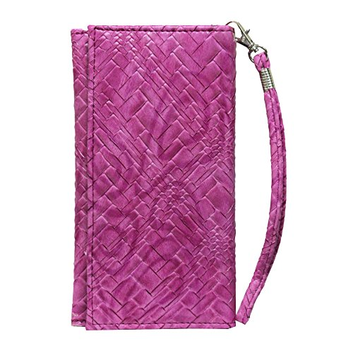 J Cover A5 Bali Leather Wallet Universal Pouch Cover Case For Moto G Plus, 4th Gen (, 32 GB) Exotic Pink