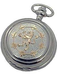 A E Williams 4956TTSK Lion mens mechanical pocket watch with chain