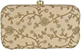 Tooba Women's Clutch (Gold Mirror Self Aari 6X4 1, Gold)