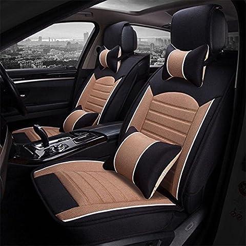 Car cushion, linen car seat cover, four seasons pad , yellow cayenne