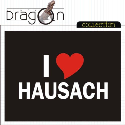 T-Shirt mit Städtenamen - i Love Hausach - Herren - unisex Schwarz