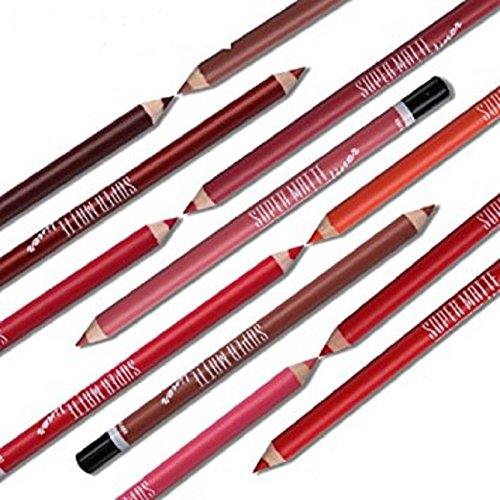 Women's Lip Liner Pencils Pack Of 6 Lip Liners Large Size Pencils Set Of 6 With Sharpner