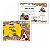 Einladungskarte zum Geburtstag für Handwerker zweiseitig auch für Gesellenprüfung Meisterprüfung Feste Partys und Feiern, 20 Karten - 17 x 12 cm