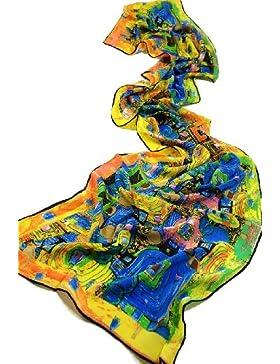 Prettystern - 160cm Gustav Klimt stile Liberty reproduzione opera d'arte sciarpa di seta 100% seta opaca in 20...