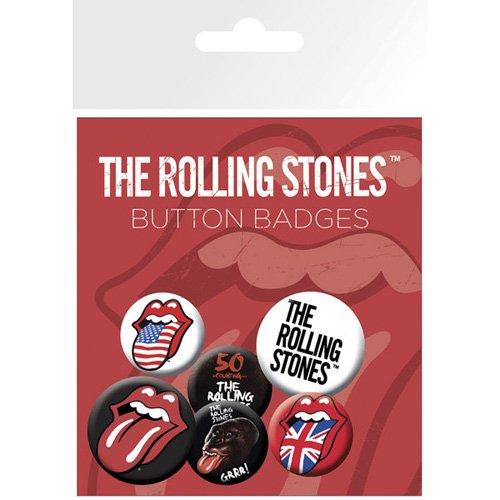 GB eye LTD, The Rolling Stones, Lips, Pack de Chapas