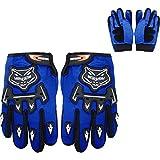 Leopard Guantes de Motocross para Niños Bicicleta Moto ATV Patio Guantes de Protección Azul S