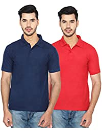 ANSH FASHION WEAR Regular Fit Polo T-shirt Combo For Men - Half Sleeves Casual Men's Polo - Set Of Two - Navy...