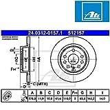 ATE 24.0312-0157.1 Power Disc Bremsscheibe - (Paar)