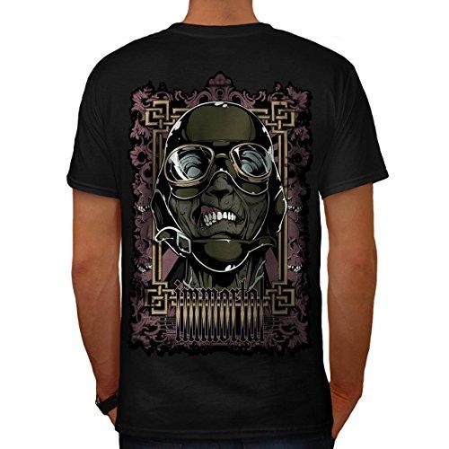 Zombie Pilot Rose Mode Grausam Flieger Herren M T-shirt Zurück | Wellcoda