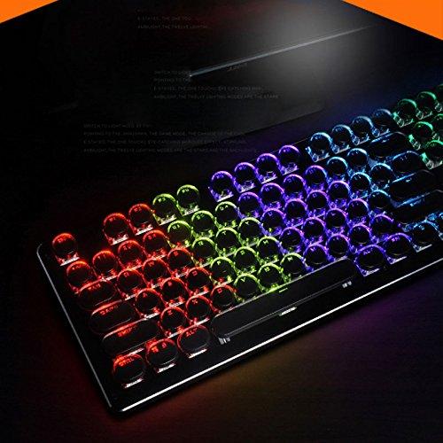 TD Mechanische Tastatur, dreifarbige Hintergrundbeleuchtung, grüne Achse, Gaming-Geräte, Bürogeräte (Farbe : Black)
