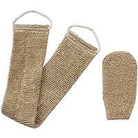 Homgaty–cáñamo esponja cuerpo cepillo Scrubber Natural Exfoliante con guante