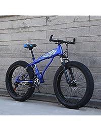 WN-PZF Bicicleta de 24 velocidades, Estudiante Adulto, Deportes al Aire Libre, Bicicleta de montaña, Bicicleta de Nieve, Ruedas ensanchadas de 4 Pulgadas + Sistema de Freno de Disco
