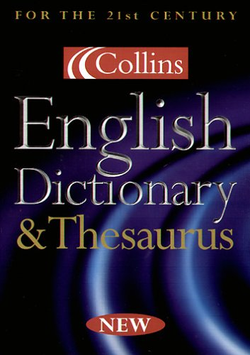 Collins English Dictionary & Thesaurus, 1 CD-ROM