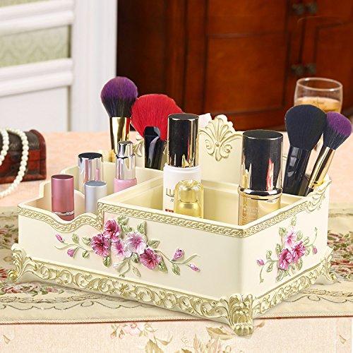 Ginger Lippenstift (HUAZHUANGXIANGBAO Kosmetik Storage Box Desktop-Bett Kommode große multifunktionale Hautpflege-Produkte Lippenstift Aufbewahrungsbox Lagerung, Ginger)
