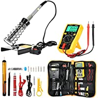 Zeepin Soldering Iron Kit, Welding Kit for Various Repair - Digital Multimeter, 60W Adjustable Temperature Soldering Iron, Screwdriver, Soldering Station