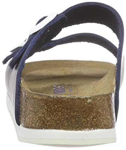 Birkenstock Arizona Leder Softfootbed, Mules Mixte Adulte Bleu (Blue)
