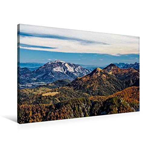 Premium Textil-Leinwand 90 cm x 60 cm quer, Blick vom Gartnerkofel   Wandbild, Bild auf Keilrahmen, Fertigbild auf echter Leinwand, Leinwanddruck (CALVENDO Natur)