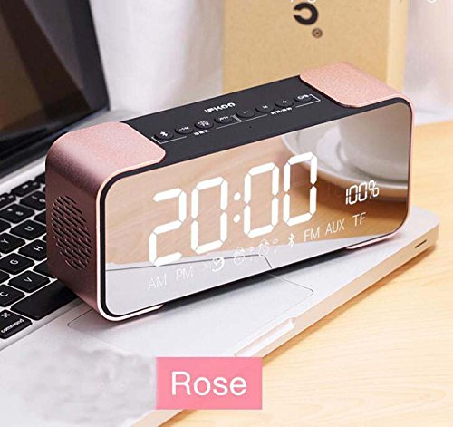 Hzhy Lautsprecher Docking Station Bluetooth Wecker UKW-Radio Blitz Dock Für iPhone 5 5 S 5C 6 6 + 6 S 7 7+ IPad Air Mini IPod (Schwarz) (Farbe : Rosa) (Rosa Ipod-lautsprecher-dock)