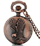 LMP3Creation Bronze Classic Vintage Retro Antique Flying Eagle Chain Pocket - Pendant Necklace Watch (POW-0176) best price on Amazon @ Rs. 459