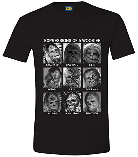 Star Wars Maglietta Maglia T Shirt Emotions Of A Wookie Size S CODI