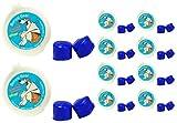 Putty Buddies SchwimmendeOhrstöpsel aus weichem Silikon zum Schwimmen und Baden, von einem Physiker erfunden,halten Wasser fern,hochwertige Ohrstöpselzum Schwimmen, vomArzt empfohlen, 10er Pack, blau