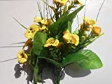 Pansy Yellow Artificial flower