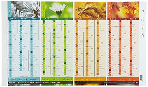 Calendario Parete.Lecas 400069580 Fantasia Calendario Parete Sotto Mano Tema Piantagioni 2018 65 X 38 Cm