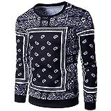 Kanpola Herren Pullover Casual Herbst Winter 3D Druck Crew Neck Langarm Sweatershirt Pulli Top Bluse