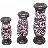 Fashoion Era Handcrafted Wooden Flower Vase Decoration Ideas, Home Decorative Item Set Of 3
