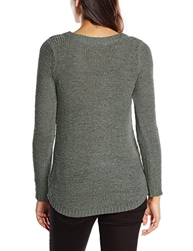 Only Onlgeena Xo L/S Pullover Knt Noos, Felpa Donna Verde (Balsam Green Balsam Green)