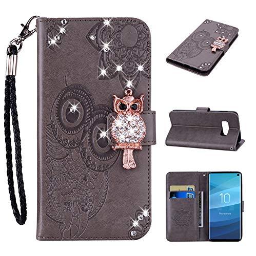 Galaxy S10 Lite Hülle, Leder Tasche Handyhülle Flip Wallet Schutzhülle für Samsung Galaxy S10 Lite mit Ständer und Kartenfächer/Magnetverschluss #R (4)