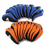 10Pcs/Set Golf Club Iron Head Covers for Taylormade Ping Mizuno Titleist Callaway