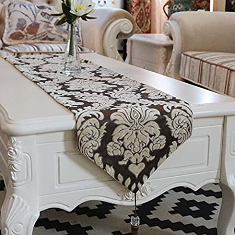 XXFFH Table Runners European Luxury Cut Cashmere Large Fashion Table