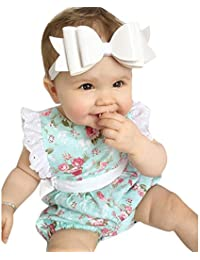 Covermason Bebé NiñasFloral Impresión Lace Mono Bodies