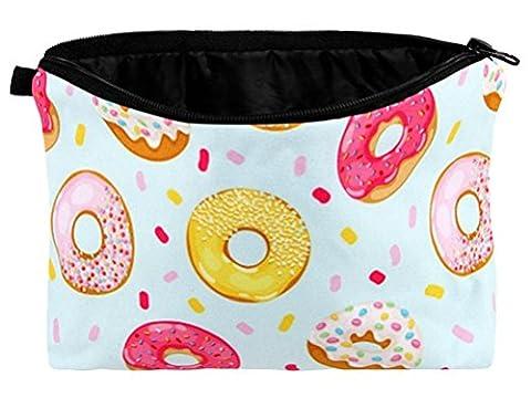 Bunte Donuts Kosmetiktasche Make Up Tasche Schminktasche