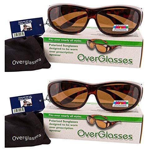 0dada5b05c BROWN POLARISED OVER GLASSES SUNGLASSES WEAR OVER PRESCRIPTION GLASSES ...  by OPTICAID