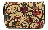 SwankySwans Classic Tree Owl Small Wallet in Beige